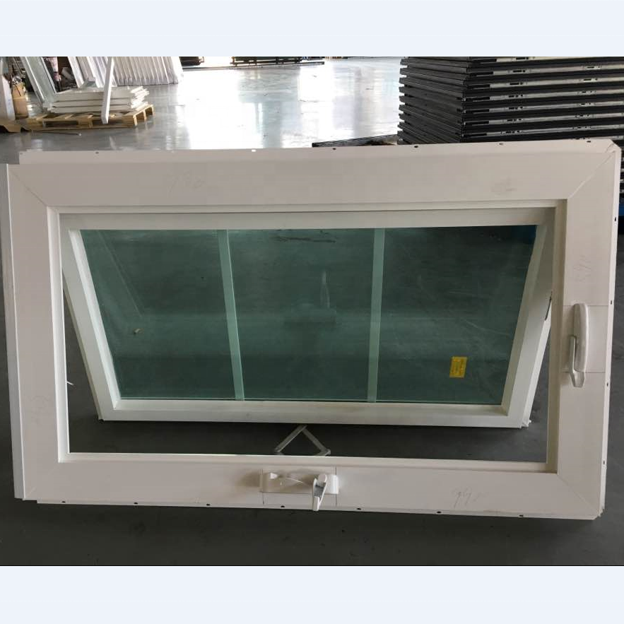Modern design pvc awning window grill design, American style pvc windows, vertical sliding window