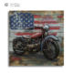Customers' favorite motorcycle crafts handmade metal home art decor 3d painting