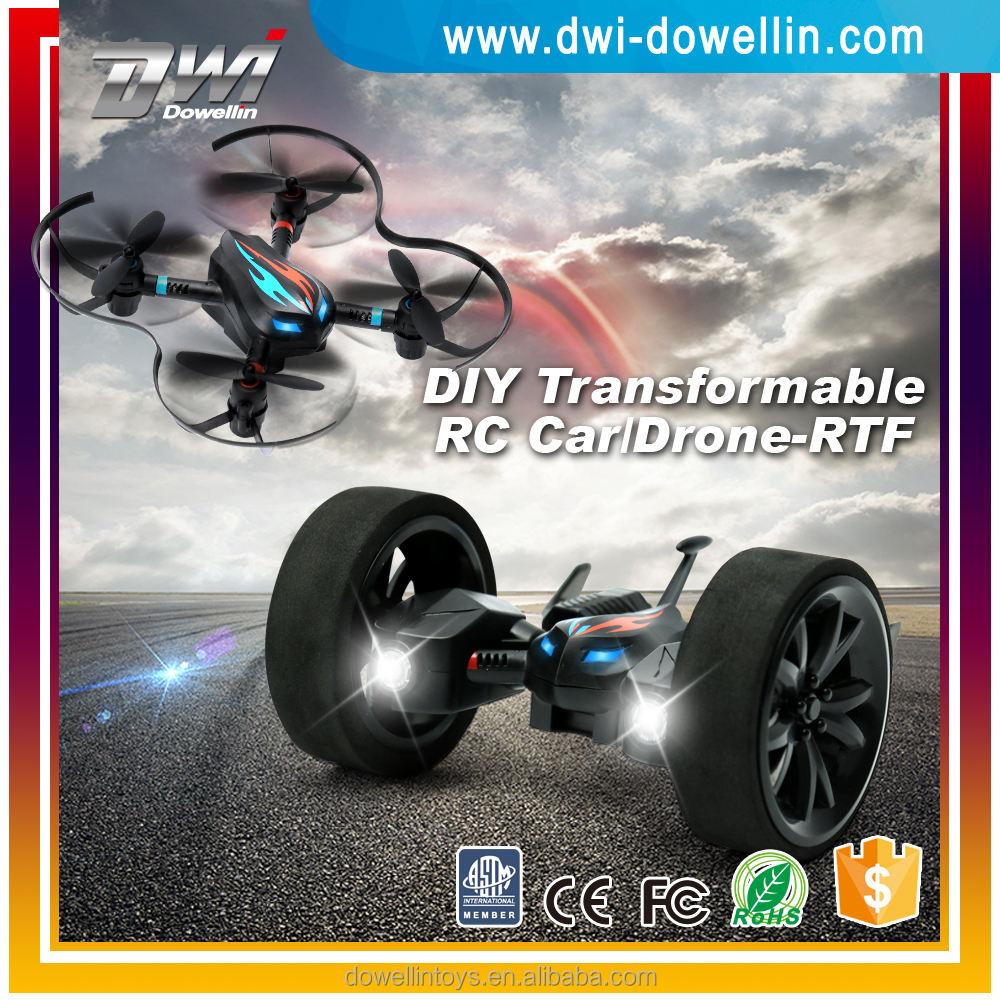 Dwi dowellin x28 rcドローンdiyランド&スカイ2in1バランス車rc quadcopter airphibianフライング車
