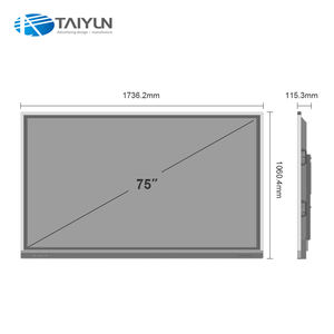 75 inch classroom all in one pc touch screen interactive whiteboard no pc