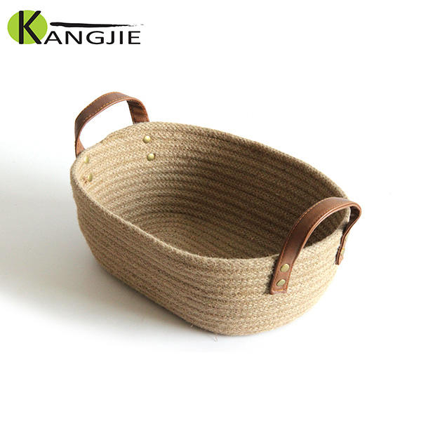 Free Sample Excellent Quality Jute Storage / Burlap Rope Bread Basket