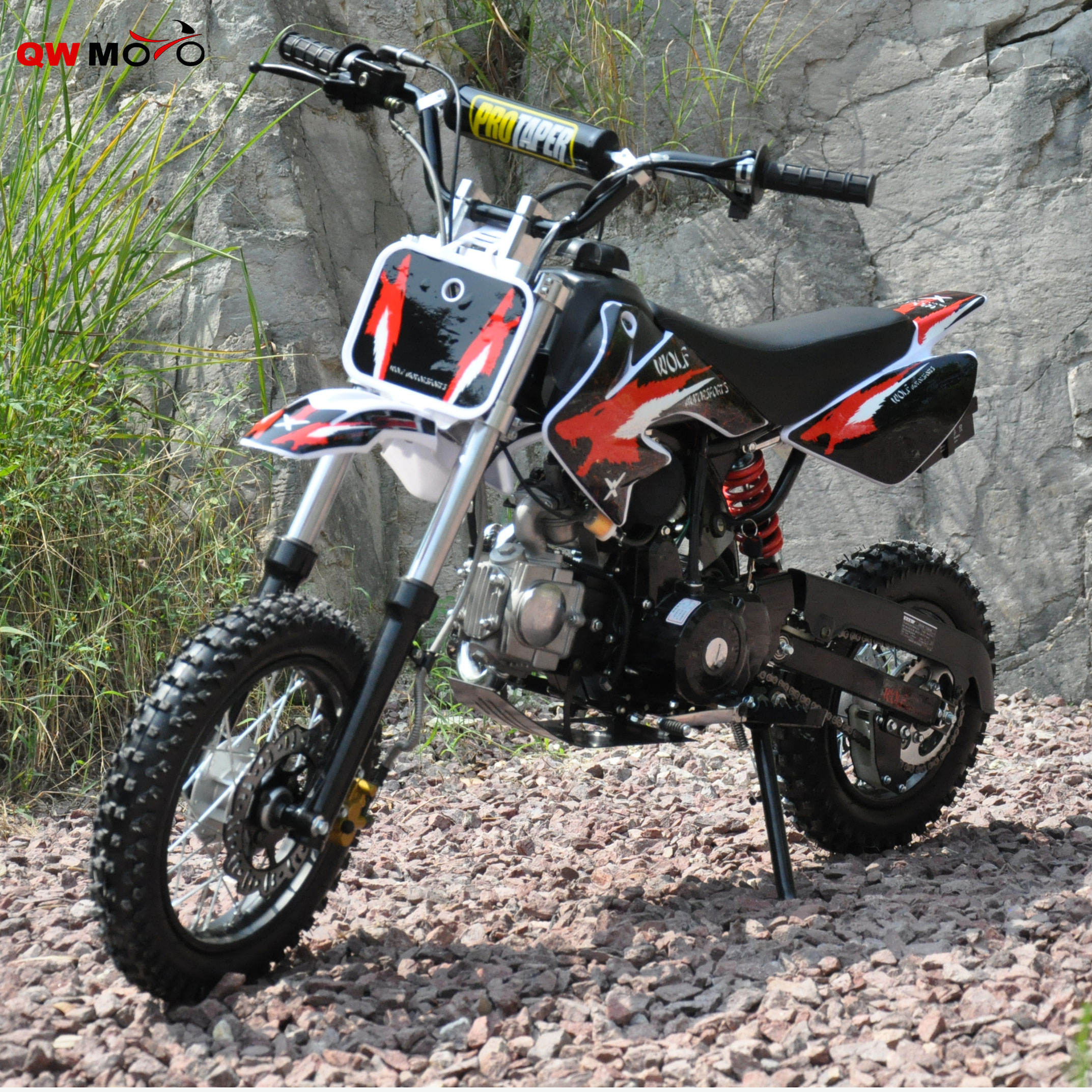 Qwmoto Cool Design Crf <span class=keywords><strong>50</strong></span> Stijl 50cc Mini Pit Bike 110cc Mini Crossmotor Voor Goedkope Koop