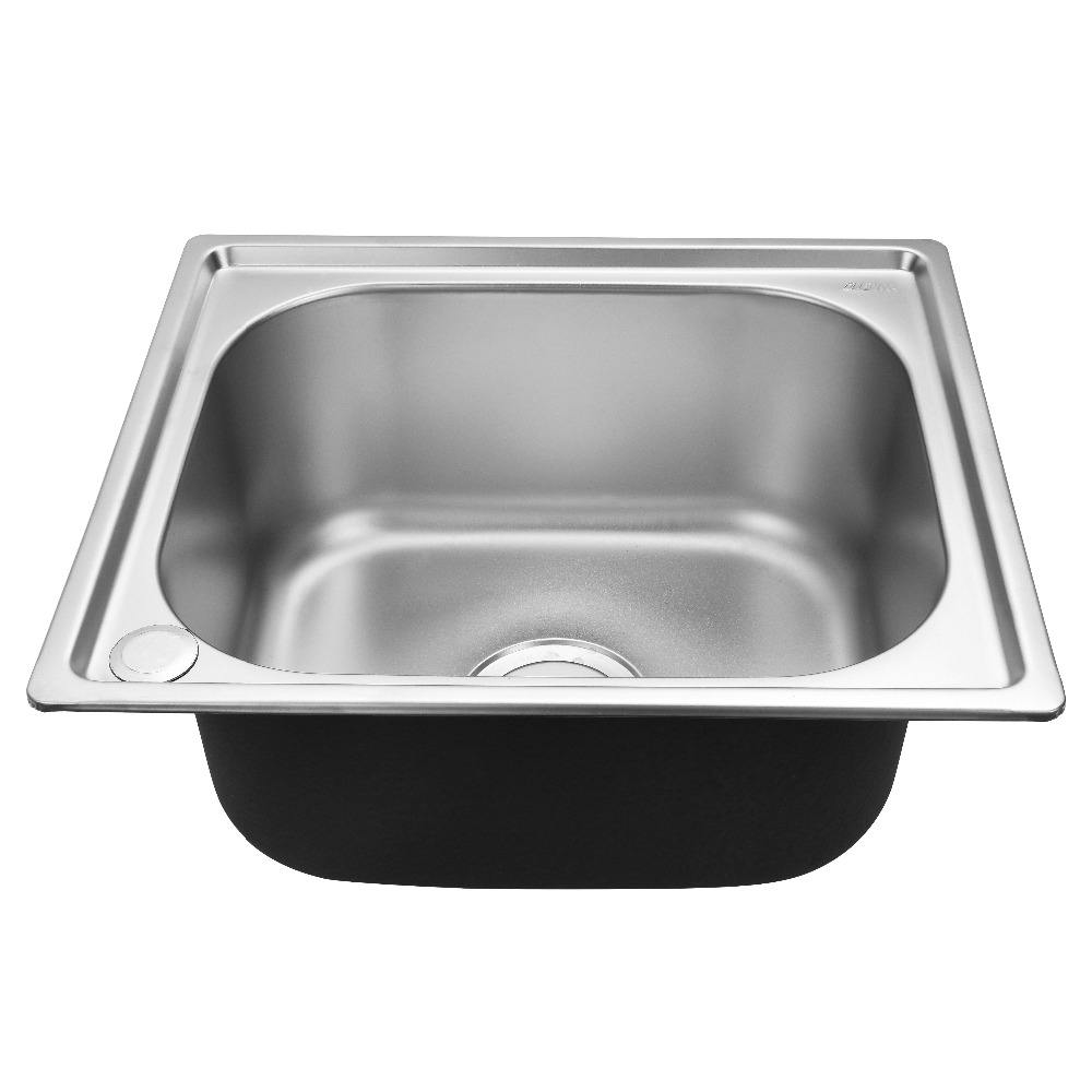 4539 Handmade custom size aluminum single bowl 201 stainless steel kitchen sink