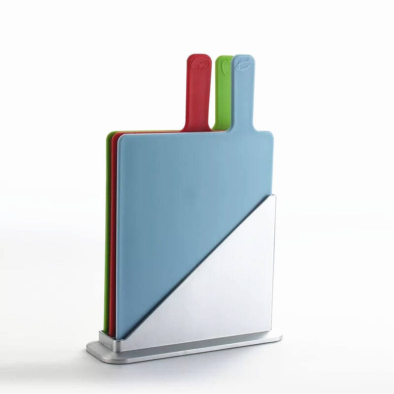 Colorful index chopping blocks 3pcs cutting board with stand