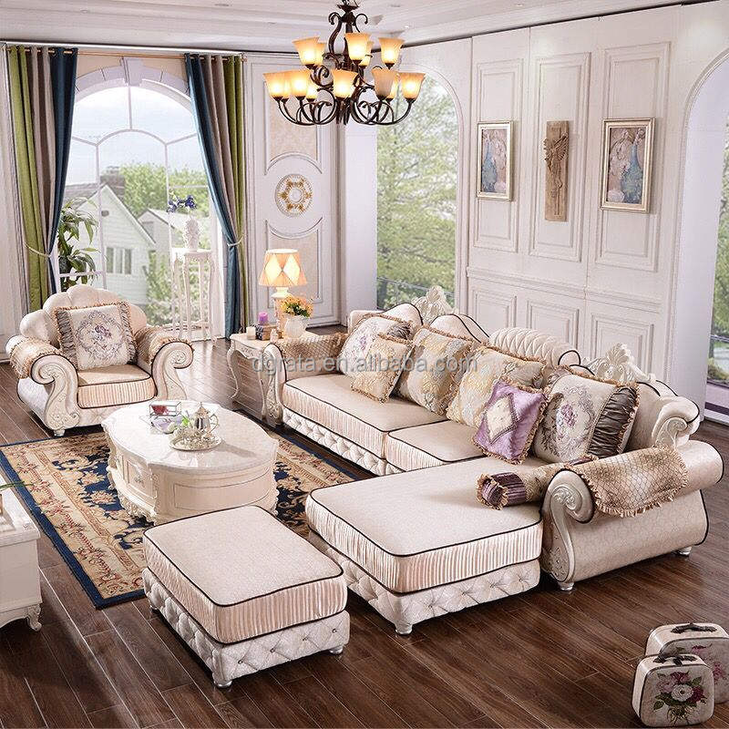 2018 Hot sale high quality Fabric sofa set royal furnitures living room sofa set for sale