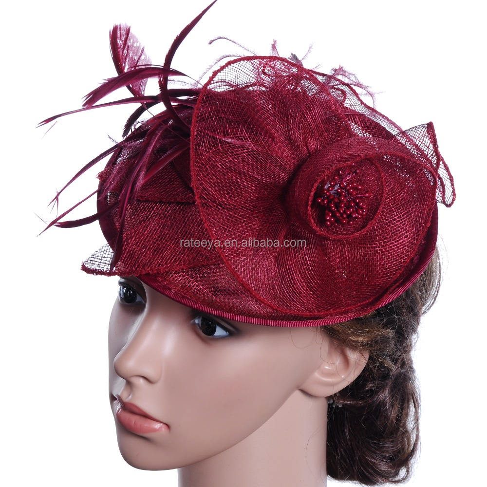 Women's Flower Fascinator Wedding Hair Clip Headpiece Cocktail Party Headwear