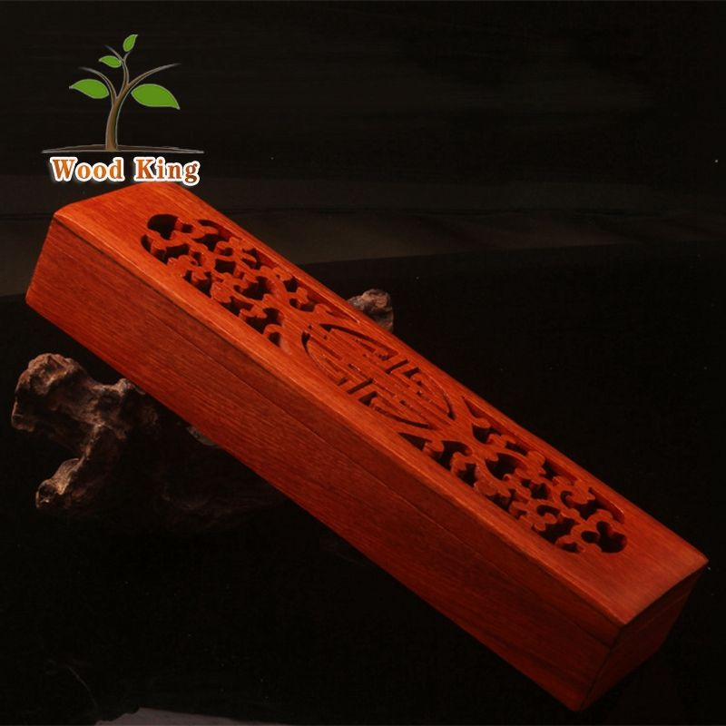 Classical Polishing And Grinding Red Sandalwood Aloes Bedroom Joss Stick Box Wooden Car Incense Holder Burner
