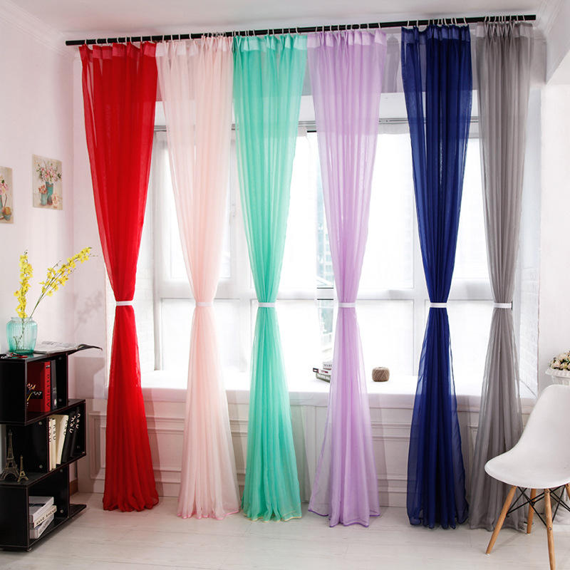 50gsm voile sheer fabric 66*54in rod pocket curtain