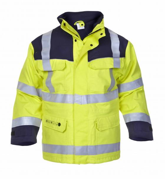 Hi Vis Custom Winter Work Safety Antistatic Fireproof Fire Retardant Parka with Reflective Tape