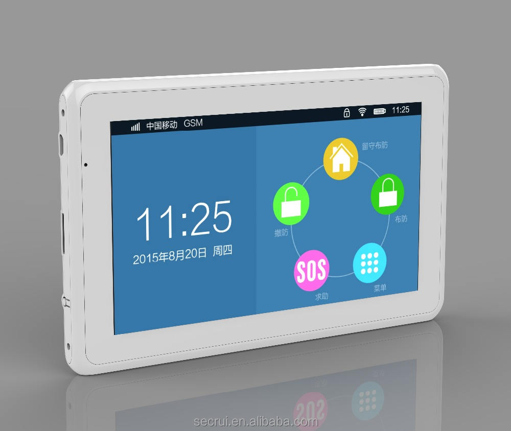 Touch Panel Alarmanlage GSM + WIFI OEM hersteller