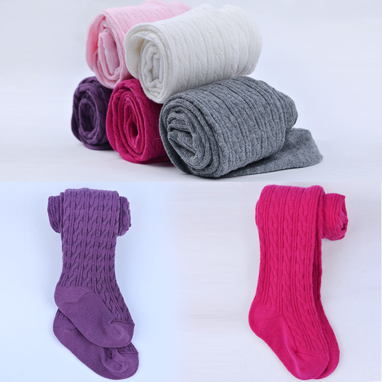 Cable Knit Fashion Adult Baby Lovely Cotton Tights, Customized Wholesale Kids Tights