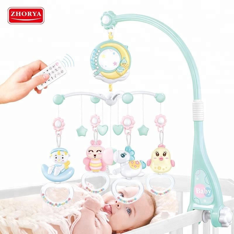 Sleep music soothe restless emotions baby bed bell with projector
