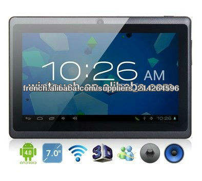 "PC tactile <span class=keywords><strong>ANDROID</strong></span> <span class=keywords><strong>4</strong></span>.<span class=keywords><strong>0</strong></span> WiFi Caméra Internet Tablet <span class=keywords><strong>7</strong></span> ""Tablet PC nouvelle promo de prix!"