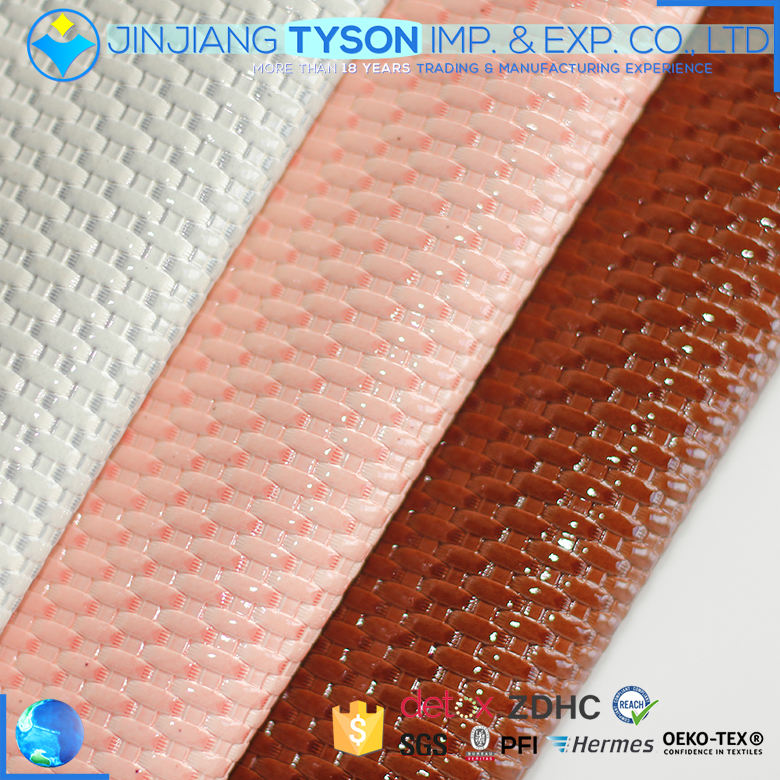 Prime quality saffiano pattern embossed pu synthetic leather