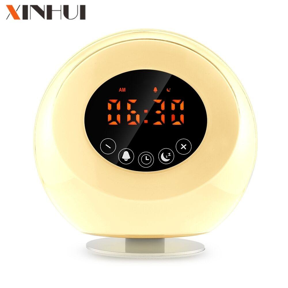 Alarm with projector clock with bird sounds with FM radio tf card speaker digital clock 2019 amazon bestseller fba best seller