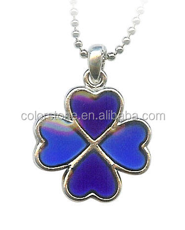 Inlaid Paua Shell Shamrock Clover Pendant Happy 4 Clover shell pendant necklace Shell Lucky Clover Love Heart Pendant