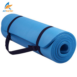 Actearllier Exercise Fitness 1/2-InchExtra Thick 71-Inch Long NBR Comfort High density Foam Yoga Mat