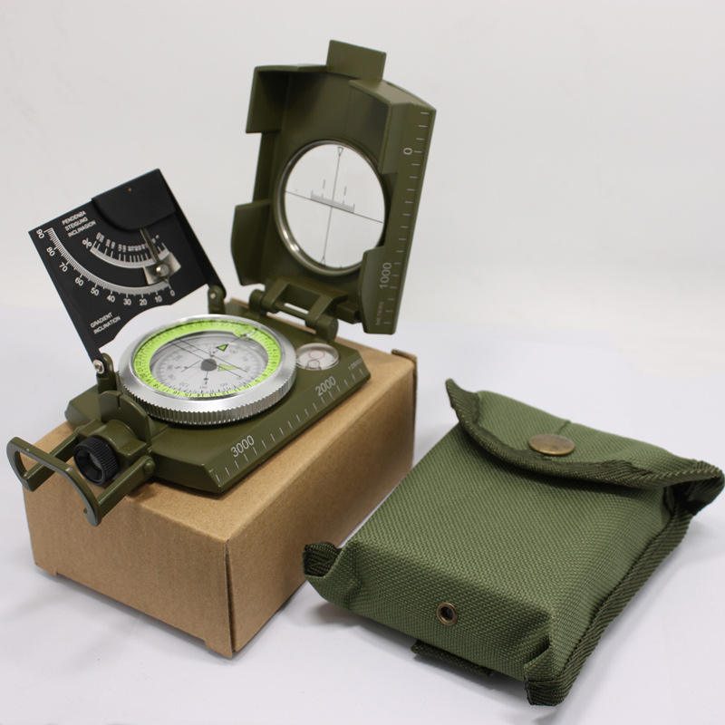 China Suppliers hot sale Outdoor Lensatic Hiking Military pocket lensatic Compass with protector