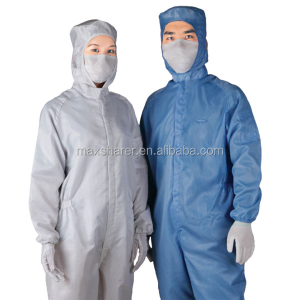 Cleanroom and Antistatic Smock ESD Clothes Conductive Fabric