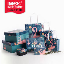 IMEE Custom Cute Cartoon Box Gift Paper Bag for Baby Shower