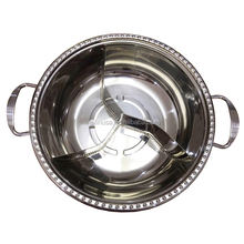 Kitchen Cookware Stainless Steel Cooking Shabu Shabu Divided In Three Yuanyang Portable Hot Pot for sale