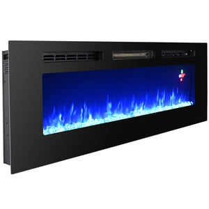 "70"" Super Large wall insert fireplace electric tempered glass fireplace screen"