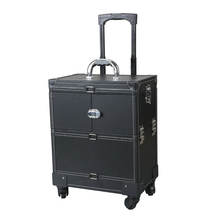 2019 vintage design  4 Wheeled hardshell  Artist Spinner luggage case