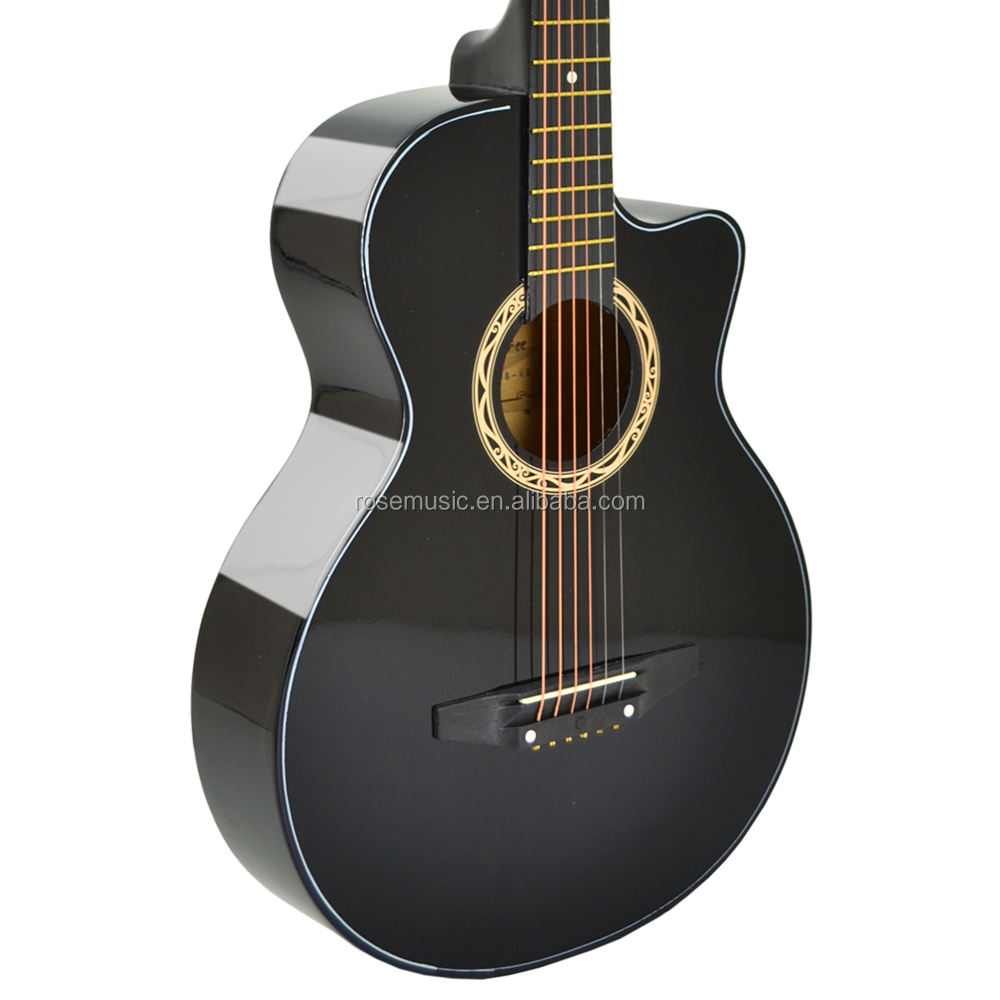 Yaheetech Acoustic Guitar Carry Case Superior Hard-shell Guitar Case in Black