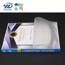 Transparent plastic paper- A4/A3 laminating pouch film,made up by PET and EVA,suitable for American market