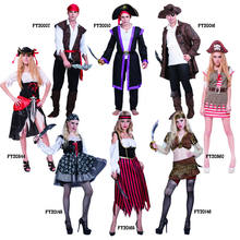 Halloween costumes adult men and women Caribbean pirate cosplay costumes fancy dress
