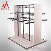 Multifunctional middle island 2 sides clothes and pants display stand