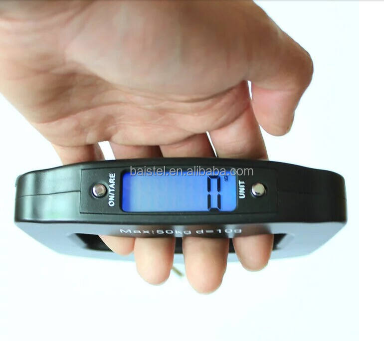 Digital Electronic Weighing Luggage Scale with Blue Backlight Travel Scale 50kg