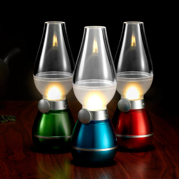 Hot sale USB Retro oil lamp blow LED table lamp