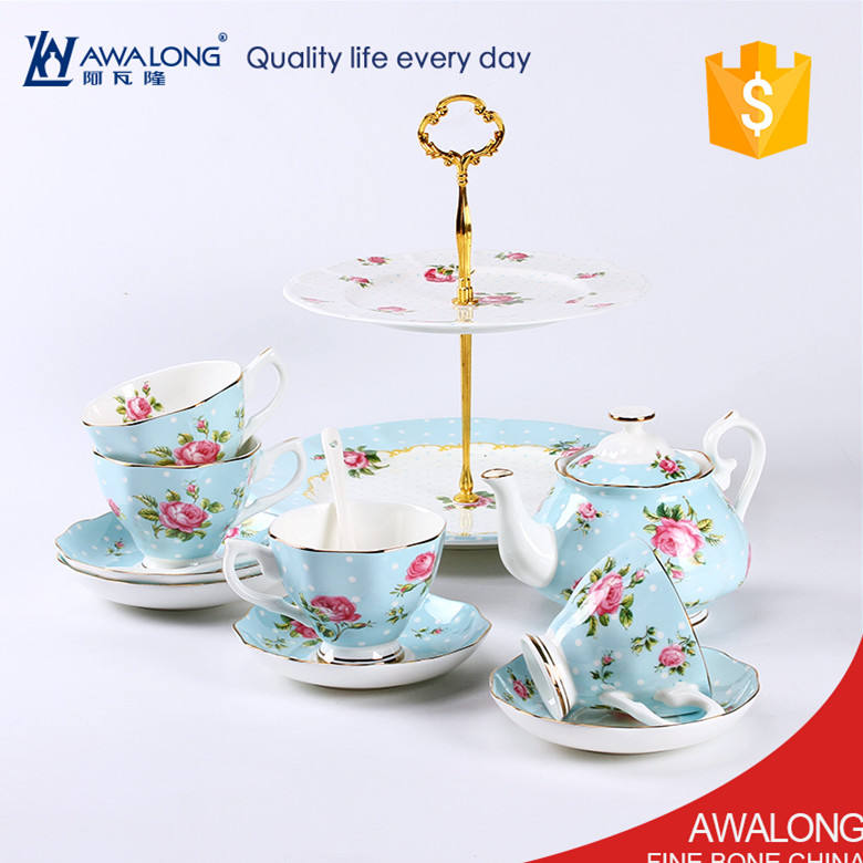 European tea set bone China Coffee Tea / English rose tea sets bone china