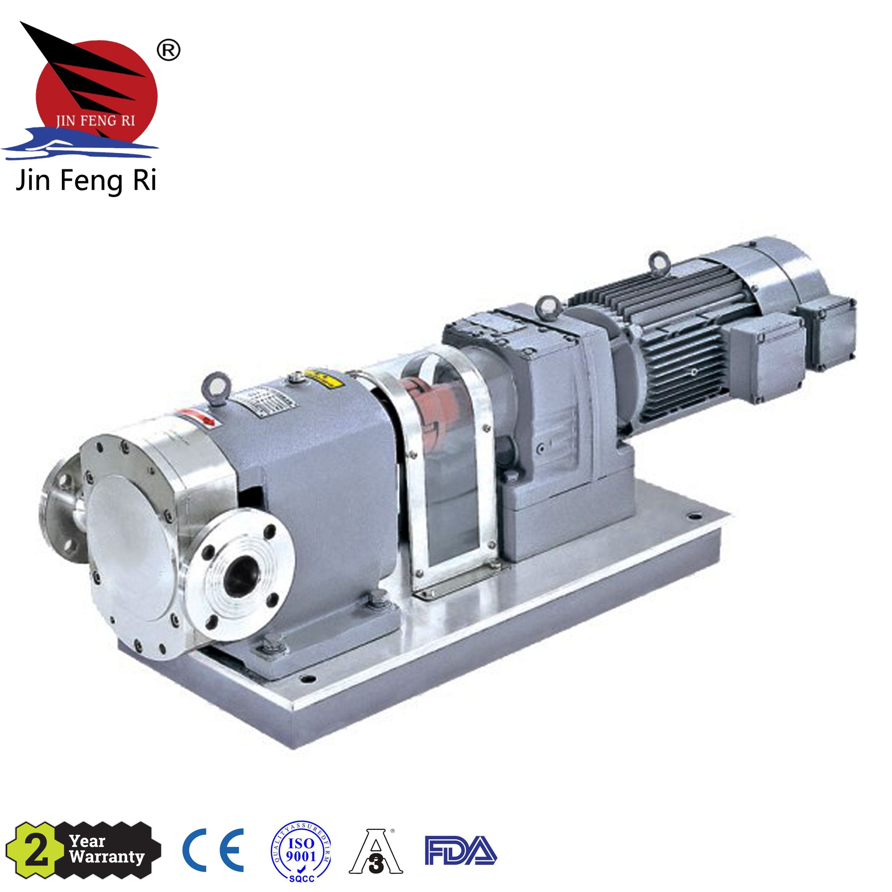 Sanitary Stainless Steel High Viscosity Positive Gear Lobe Rotor Pump