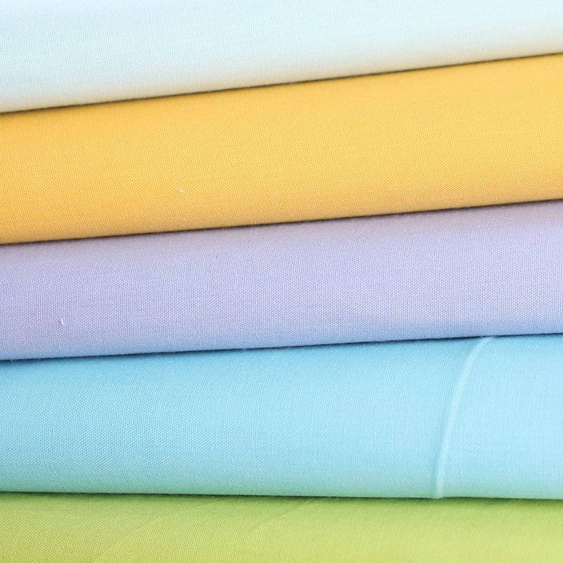 TC Polyester cotton fabric TC 80/20 65/35 bleached dyed pocket fabric for t-shirt