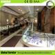 Jewelry shop display cabinet store fixture with LED strip light and spot light