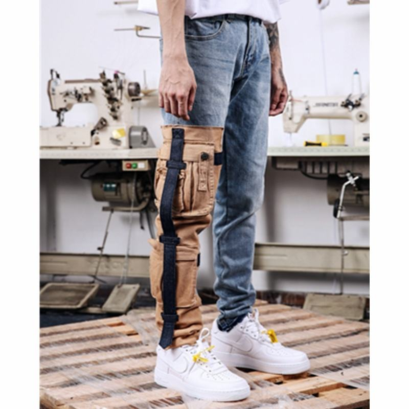 OEM trousers for men stock dropshipping hitpop cargo trousers jeans pants