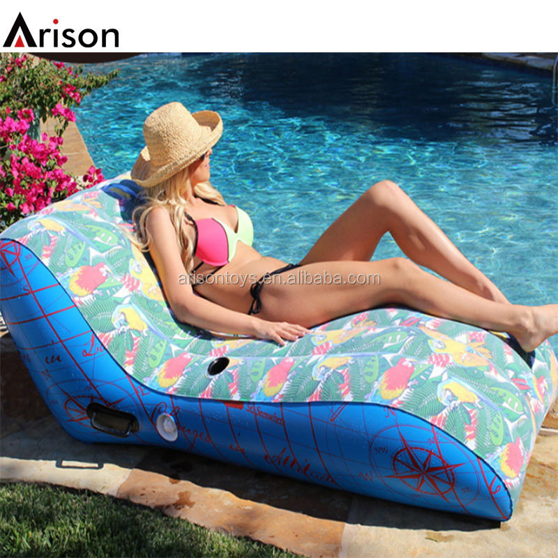 CMYK full color printing PVC inflatable S shaped lounge for PVC inflatable chair
