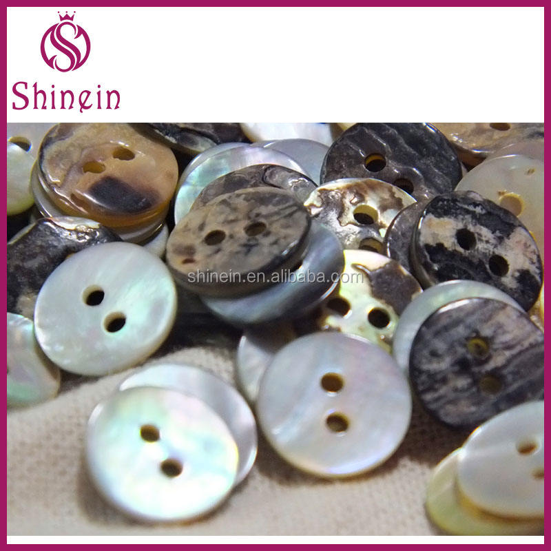 Multi sizes natural mother of pearl real shell buttons sewing accessories loose buttons Japanese Mashi Shellfish Shell Button