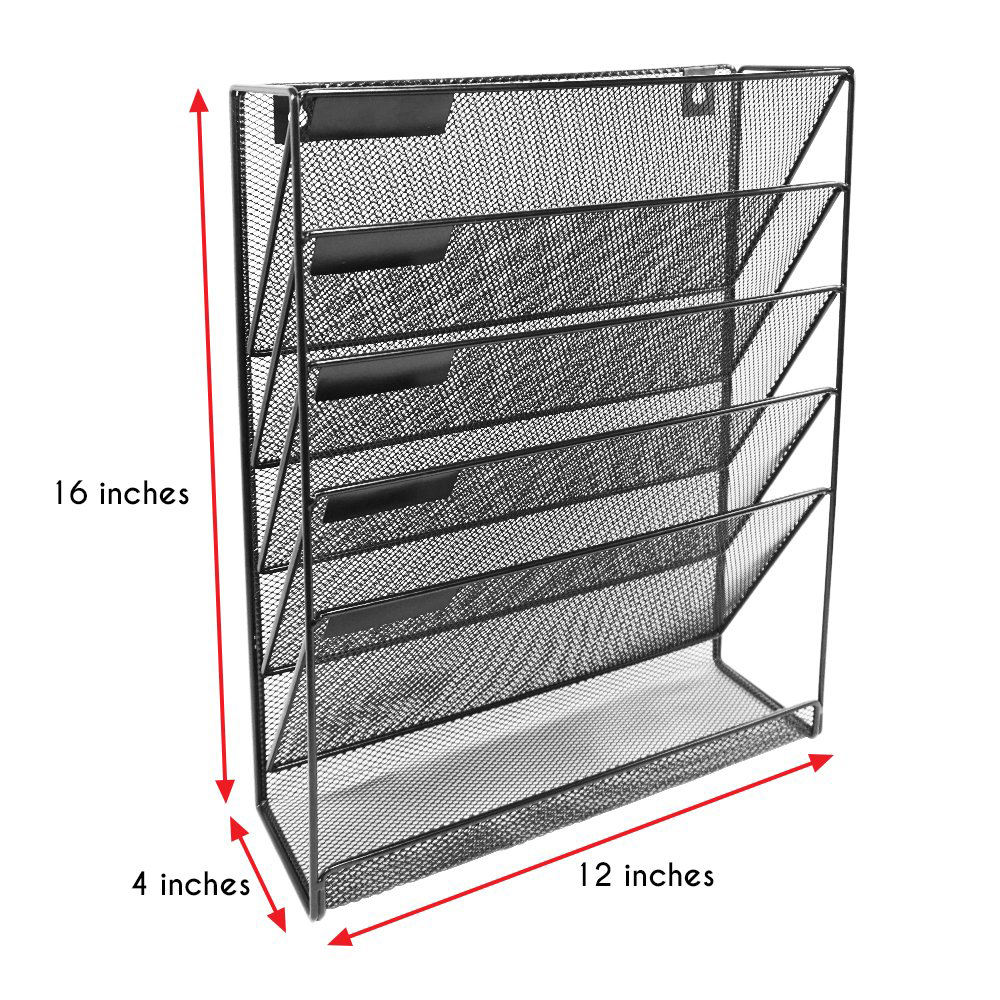 Multi-function 2019 office magazine bath toy desk organizer wall mounted mesh metal hanging wall file organizer