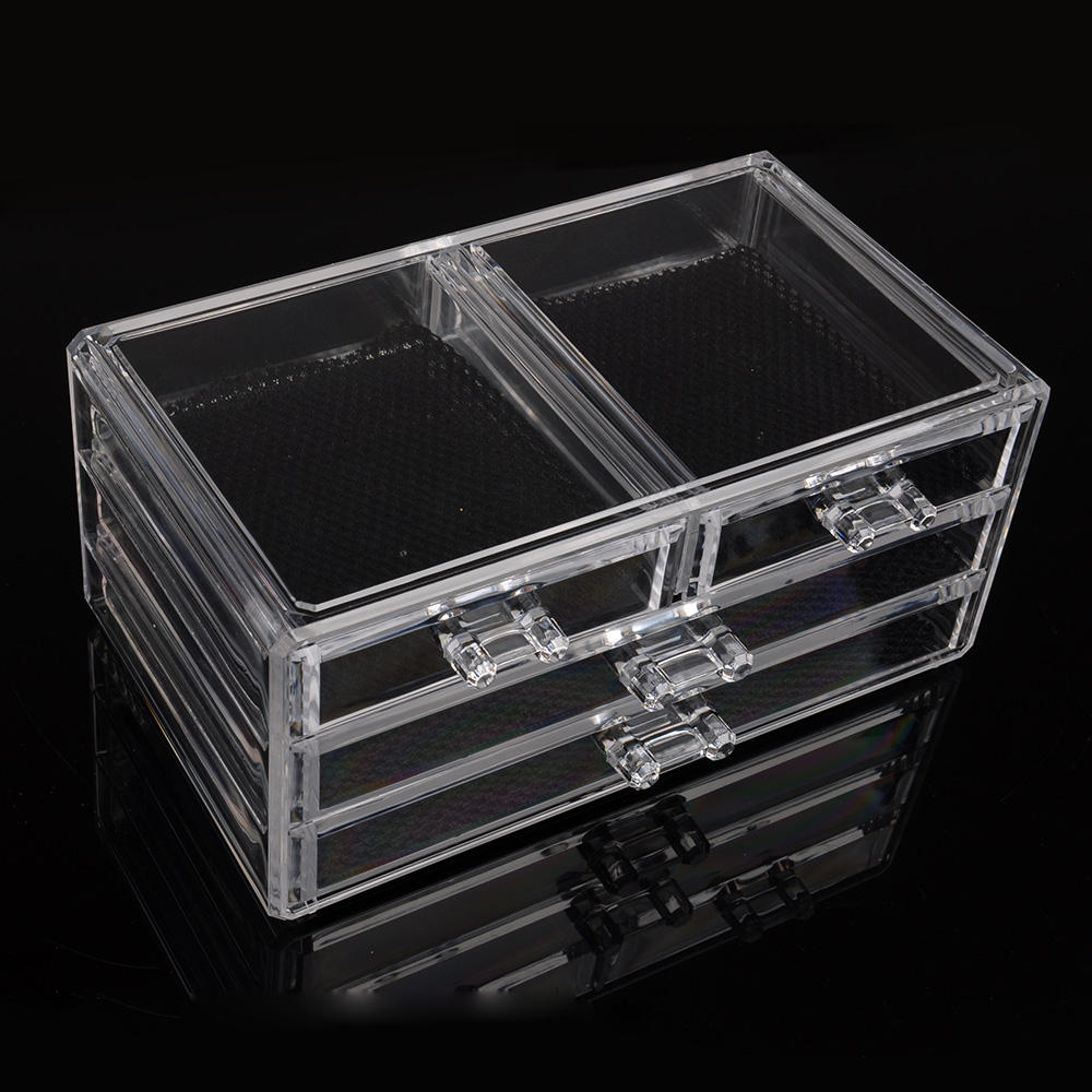 Woman plastic Cosmetic Organizer Clear Makeup Jewelry Cosmetic Storage Display Box