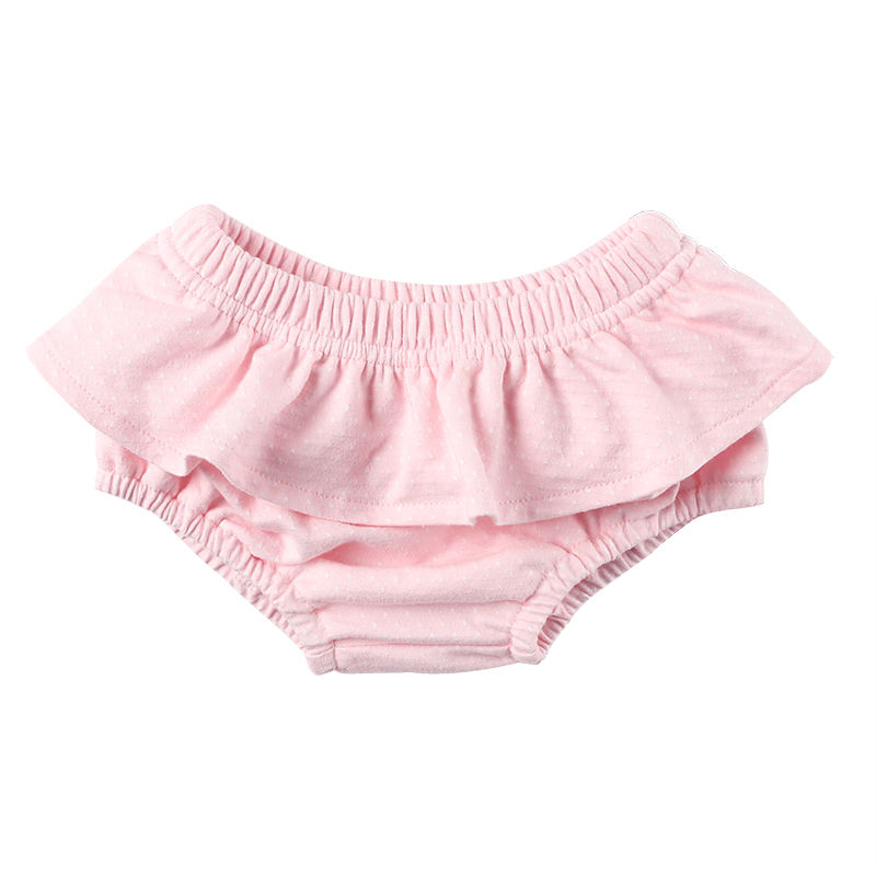 Latest pink baby diaper cover baby clothes soft cotton ruffle baby bloomer