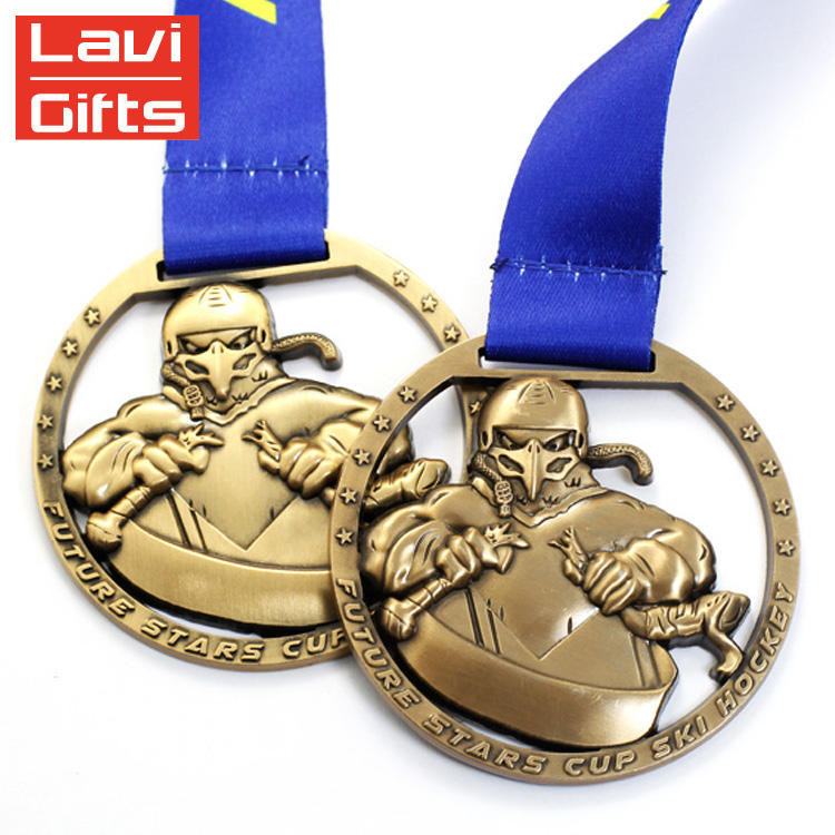 Hot Koop Custom Zinklegering Cut Effect Ijshockey Oude Sport Medaille
