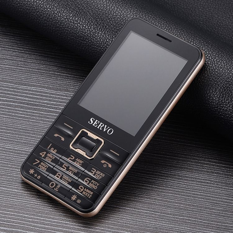 SERVO V8100 Card Mobile Phone 2.8 inch Support Bluetooth FM MP3 GSM 4 sim mobile phone