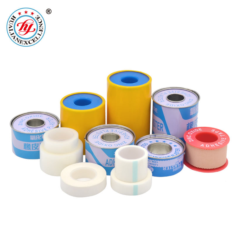 Professional Manufacturer Types Cotton Zinc Oxide Plaster Tape for Surgical Medical First Aid with FDA CE ISO13485