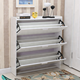 Wooden furniture melamine board rotating shoe cabinet/rack