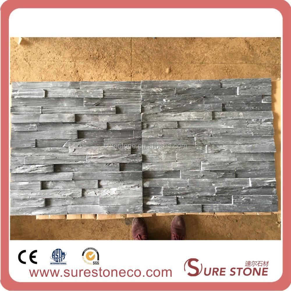 Pietre naturali superficie ruvida stacked pietra in colore nero ardesia