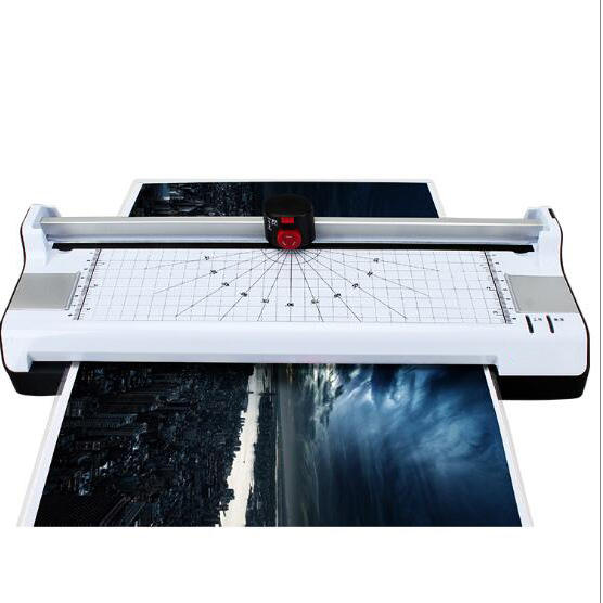 office Using Automatic Thermal A3 Pouch Laminator with Paper Trimmer with Corner Round Cutter