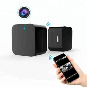 Mini 1080P WIFI HD Camera Plug Wall Charger Video Recorder Motion Detection Wireless Real-time Remote See Live Nanny Cam